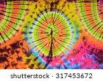 close up shot of tie dye fabric ... | Shutterstock . vector #317453672