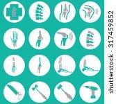 orthopedic and spine symbol  ... | Shutterstock .eps vector #317459852