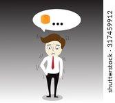 businessman has no money | Shutterstock .eps vector #317459912