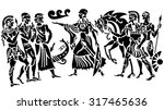 background in the greek style | Shutterstock .eps vector #317465636