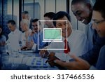 laptop computer technology...   Shutterstock . vector #317466536