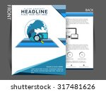 flyer  brochure or magazine... | Shutterstock .eps vector #317481626