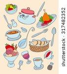 colored menu elements | Shutterstock .eps vector #317482352