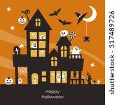 halloween mansion | Shutterstock .eps vector #317489726