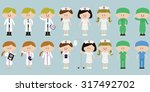 illustration of medical people... | Shutterstock .eps vector #317492702
