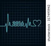 creative new year 2016 design... | Shutterstock .eps vector #317495942