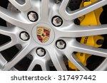Постер, плакат: Porsche emblem wheel Ferdinand