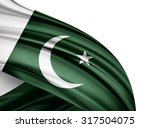 Pakistan   Flag Of Silk With...