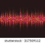 music square waveform... | Shutterstock .eps vector #317509112