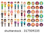 collection of different men and ... | Shutterstock .eps vector #317509235