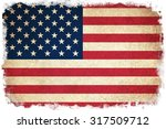 grunge flag of usa   united... | Shutterstock . vector #317509712