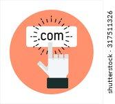 domain name theme  flat style ... | Shutterstock .eps vector #317511326
