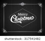 vintage style movie still  ... | Shutterstock .eps vector #317541482