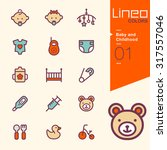 lineo colors   baby and... | Shutterstock .eps vector #317557046