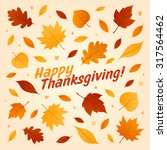 happy thanksgiving card ... | Shutterstock .eps vector #317564462