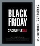 black friday banner. sale | Shutterstock .eps vector #317565662