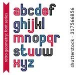double lines geometric font... | Shutterstock .eps vector #317566856