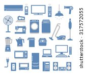 home appliances icons | Shutterstock .eps vector #317572055