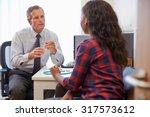 female patient having... | Shutterstock . vector #317573612