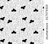 abstract vector flower seamless ... | Shutterstock .eps vector #317575505