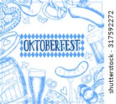 oktoberfest greeting card with... | Shutterstock .eps vector #317592272
