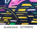 beautiful street art graffiti.... | Shutterstock . vector #317598992