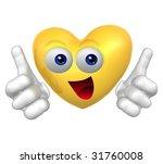 valentine's heart mascot icon... | Shutterstock . vector #31760008