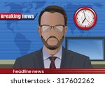 breaking news. silhouette of a... | Shutterstock .eps vector #317602262