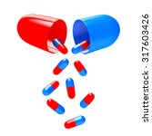 medical colorful capsules...   Shutterstock . vector #317603426