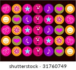 background with funny colored... | Shutterstock .eps vector #31760749