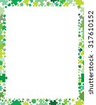 decorative puzzles frame ... | Shutterstock .eps vector #317610152