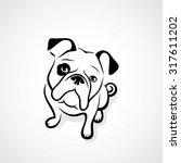 bulldog   vector illustration | Shutterstock .eps vector #317611202