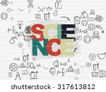 science concept  painted... | Shutterstock . vector #317613812
