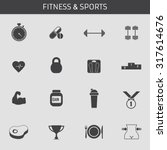 web icons set for fitness and a ... | Shutterstock .eps vector #317614676