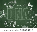 medicine concept  chalk green... | Shutterstock . vector #317615216