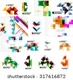 set of various universal... | Shutterstock . vector #317616872