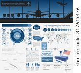 airport  air travel infographic ... | Shutterstock .eps vector #317619476