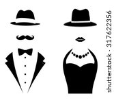 gentleman and lady symbols. man ... | Shutterstock .eps vector #317622356