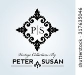 luxury vintage wedding logo... | Shutterstock .eps vector #317635046