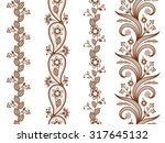 Henna Ornamental Seamless...
