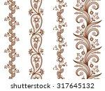 henna ornamental seamless... | Shutterstock .eps vector #317645132