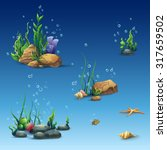 set underwater world different... | Shutterstock .eps vector #317659502