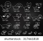 vector collection of chalkboard ... | Shutterstock .eps vector #317661818
