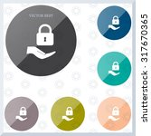lock vector icon   Shutterstock .eps vector #317670365