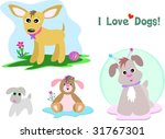 mix page of dogs and text vector | Shutterstock .eps vector #31767301