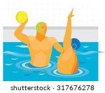 water polo. match   Shutterstock . vector #317676278