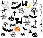 halloween seamless background... | Shutterstock .eps vector #317681966