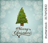 merry christmas concept with... | Shutterstock .eps vector #317692832