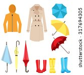set of clothes and accessories...   Shutterstock .eps vector #317694305