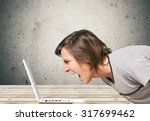 computer frustration. | Shutterstock . vector #317699462